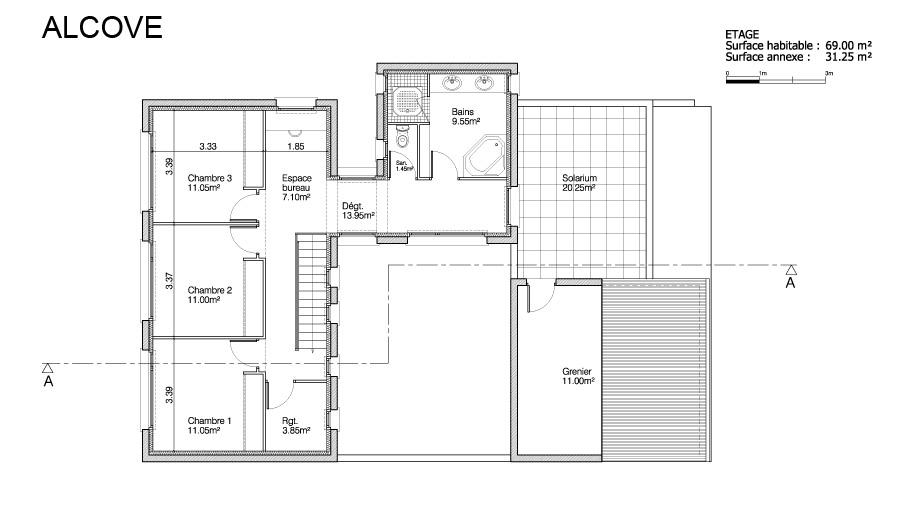 maison heraud trabeco architecture9 03 maison h raud constructeur de maisons individuelles. Black Bedroom Furniture Sets. Home Design Ideas