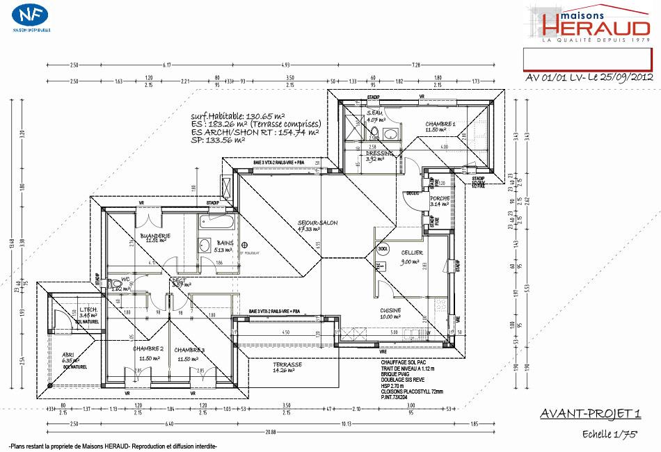 Maison heraud trabeco personnalise12 plan maison h raud for Maison sur plan prix