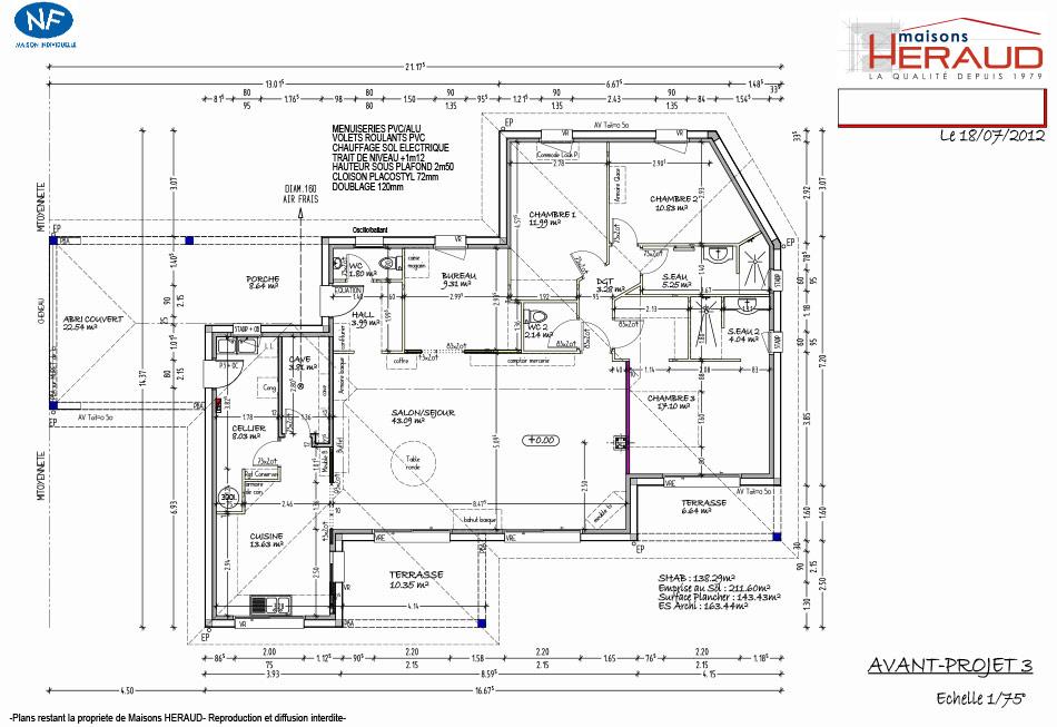 maison heraud trabeco personnalise13 plan maison h raud constructeur de maisons. Black Bedroom Furniture Sets. Home Design Ideas