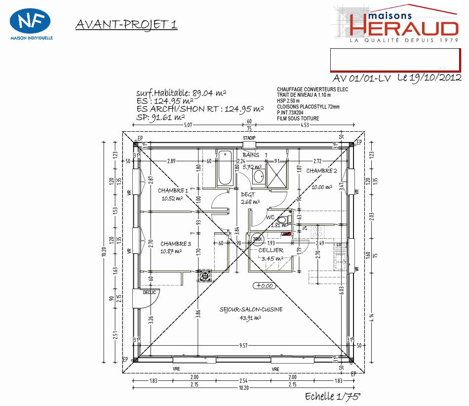 maison heraud trabeco personnalise14 plan maison h raud constructeur de maisons. Black Bedroom Furniture Sets. Home Design Ideas