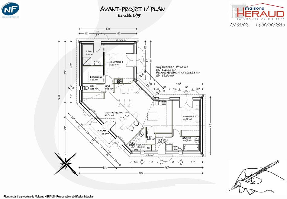 Maison heraud trabeco personnalise8 plan maison h raud for Plan maison sur mesure