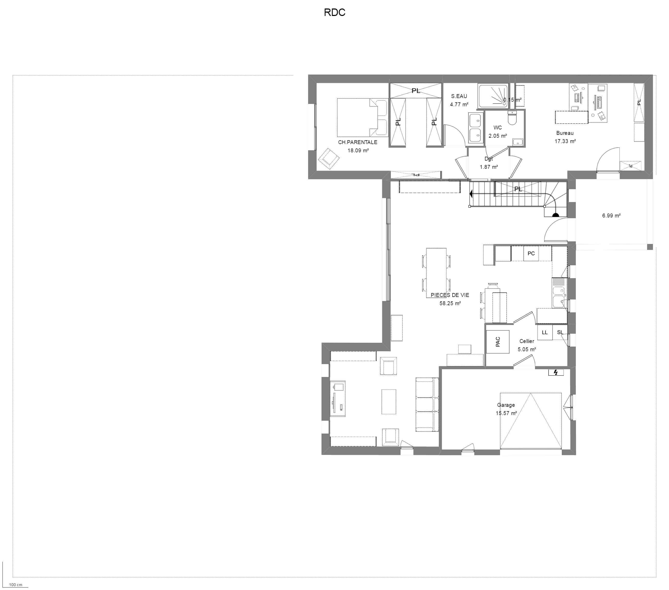 Maison architecte plan maison amthyste plan plan maison Plan maison suite parentale rdc