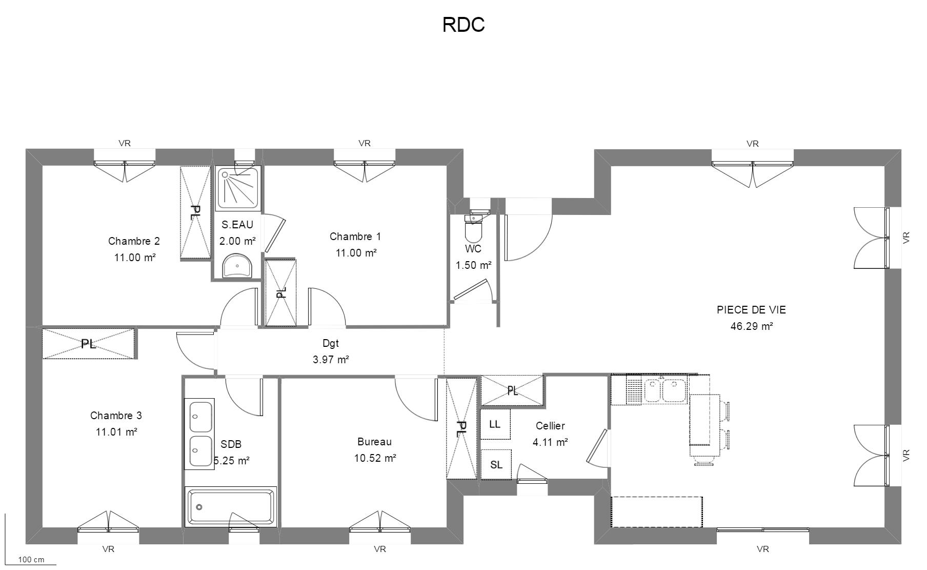 #666666 Constructeur Maisons Personnalisées Maison Heraud 2935 plan de maison avec suite parentale 1808x1111 px @ aertt.com