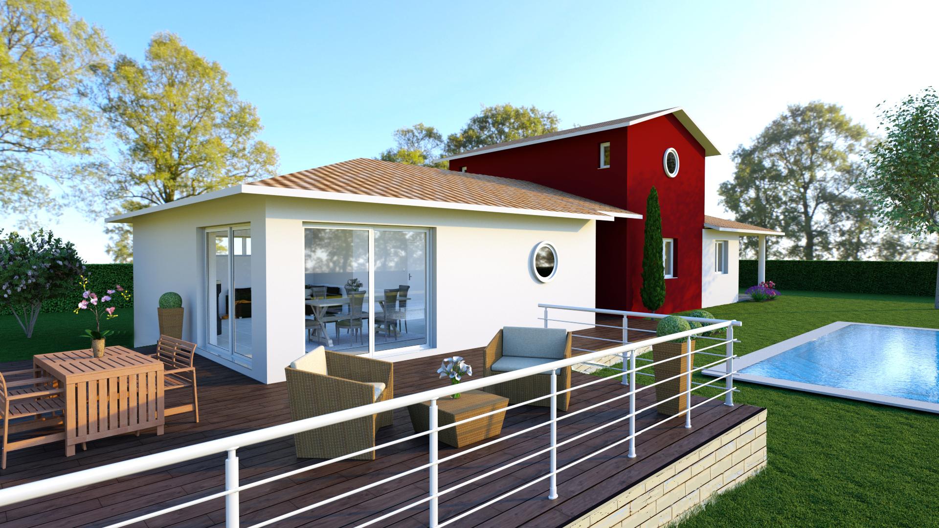 Vue terrasse maison h raud constructeur de maisons for Vue terrasse