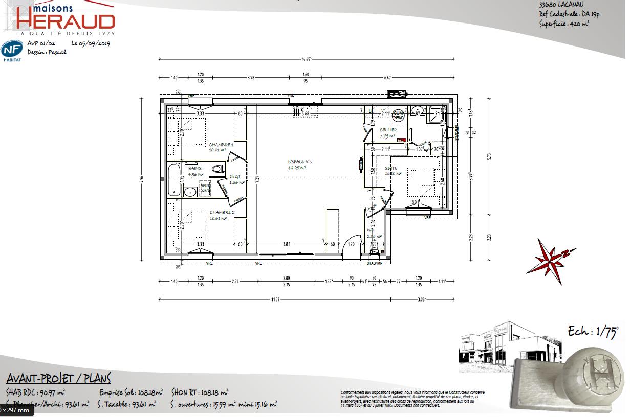 Terrain à vendre LACANAU 420m²